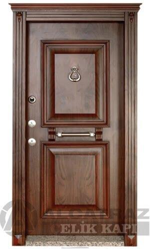 Çelik Kapı Modelleri Ahşap Kaplama Çelik Kapı ALC-02