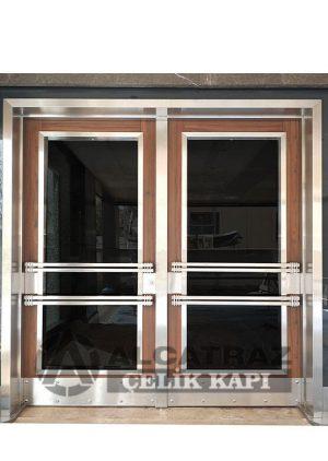 kompozit kaplama bina giriş kapısı kompakt lamine kaplama apartman giriş kapısı
