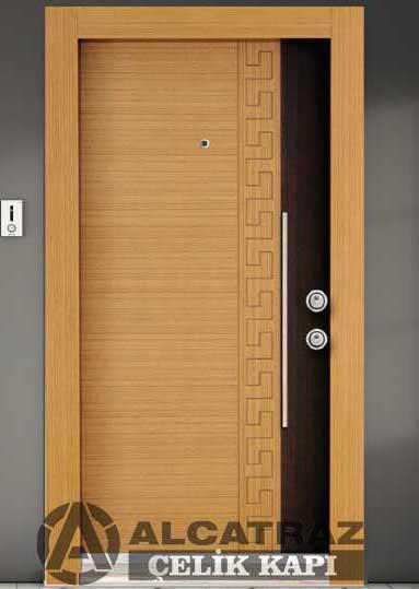 AEK 060 Çelik Kapı Özel Tasarım Alarmlı Ekonomik Çelik Kapı