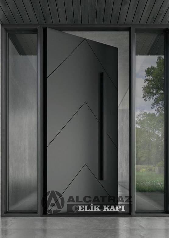 Sade Tasarım Villa Kapısı Modelleri İndirimli Villa Kapısı Fiyatları Kompozit Villa Giriş Kapıları Yağmura Güneşe Dayanıklı 10 Yıl Garantili Kompak Villa Kapısı Özel Tasarım Camlı Ferforjeli Villa Kapıları