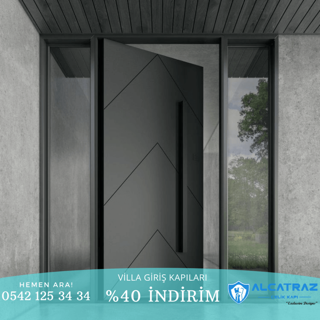 Bodrum Villa Kapısı Modelleri İndirimli Villa Kapıları Özel Tasarım Villa Giriş Kapısı Modelleri Villa Kapıları Alcatraz Çelik Kapı 2