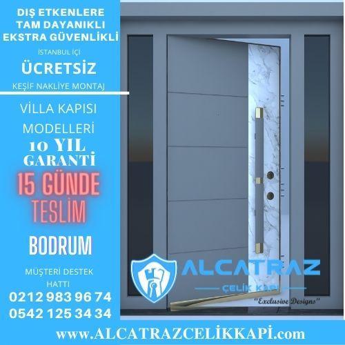 bodrum villa giriş kapıları villa kapısı modelleri indirimli villa kapı fiyatları kompozit villa kapısı