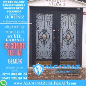 gemlik villa giriş kapıları villa kapısı modelleri indirimli villa kapı fiyatları kompozit villa kapısı