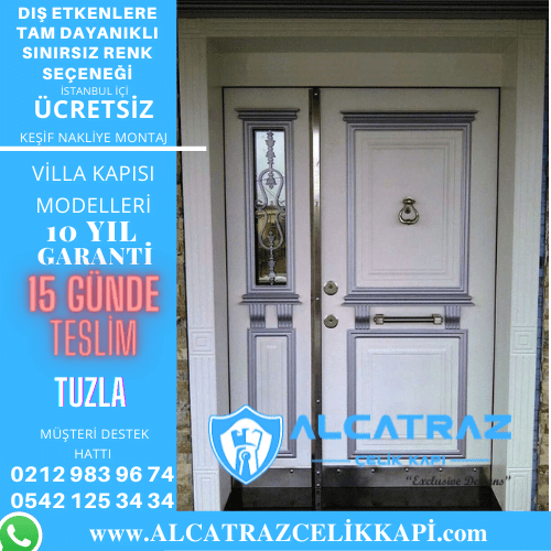 tuzla villa giriş kapıları villa kapısı modelleri indirimli villa kapı fiyatları kompozit villa kapısı