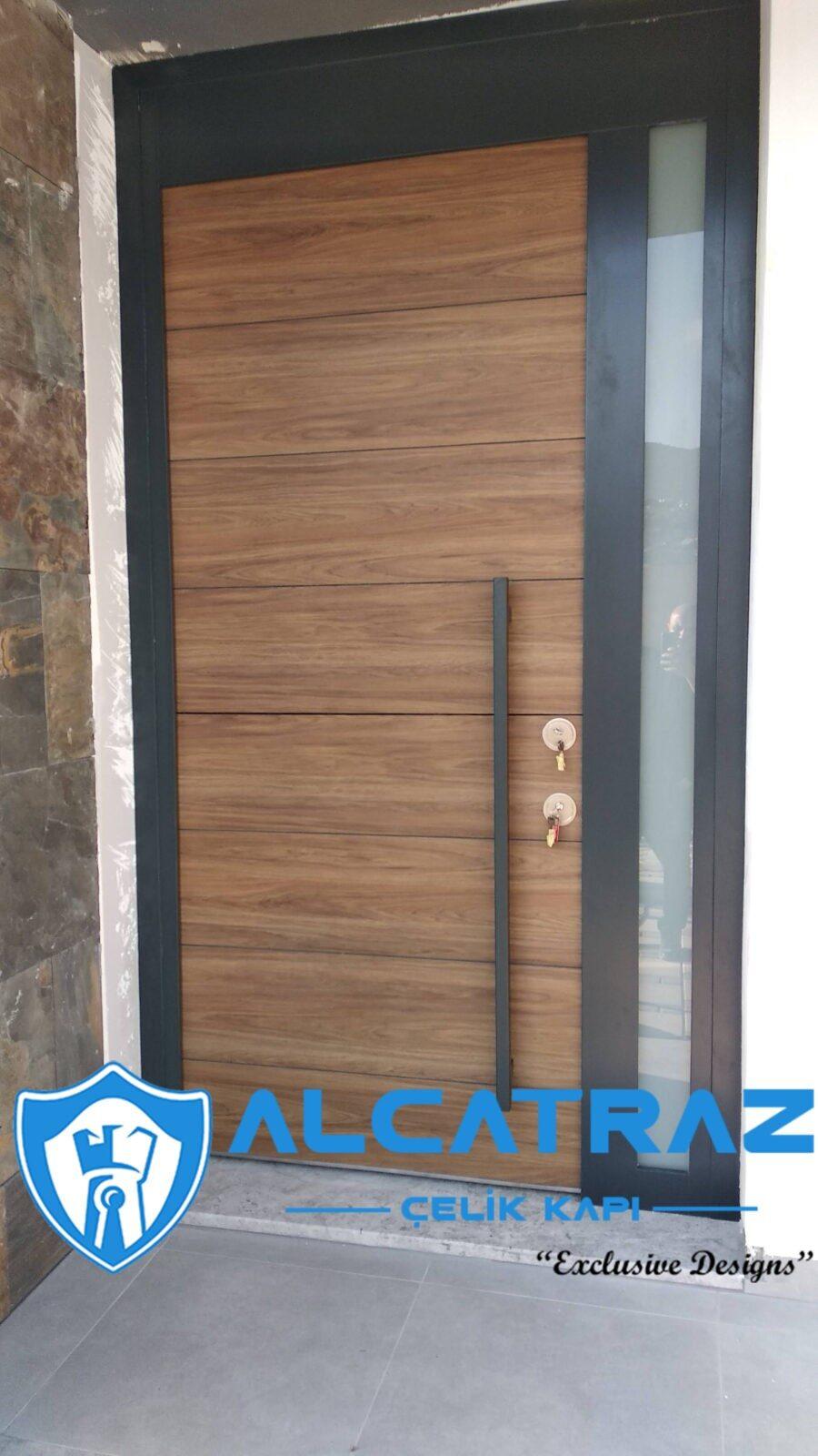 Dış Etkenlere Dayanıklı Çelik Kapı Villa Kapısı Özel Tasarım Kompozit Çelik Kapı Modelleri Alcatraz Çelik Kapı