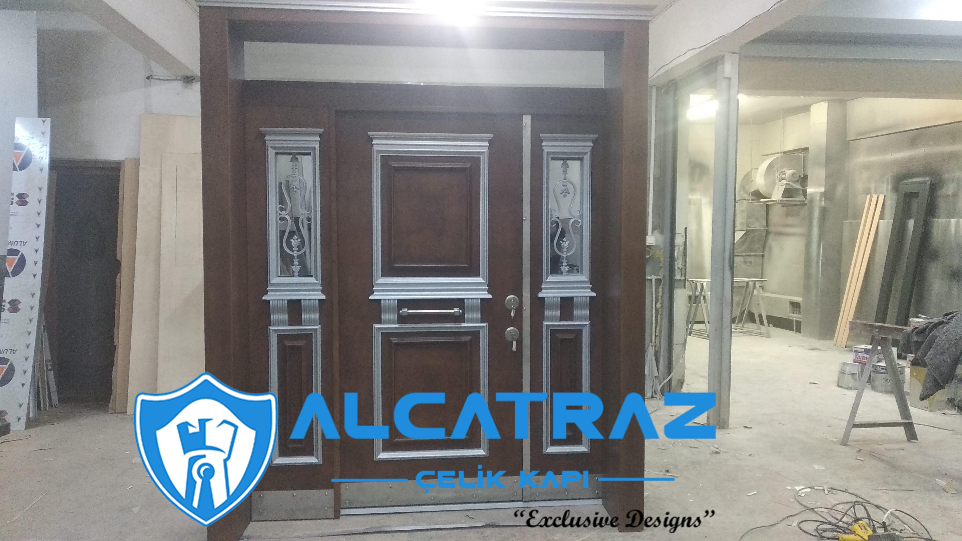 Lüks Çelik Kapı Villa Kapısı Klasik Özel Tasarım Kompozit Çelik Kapı Modelleri Alcatraz Çelik Kapı 1