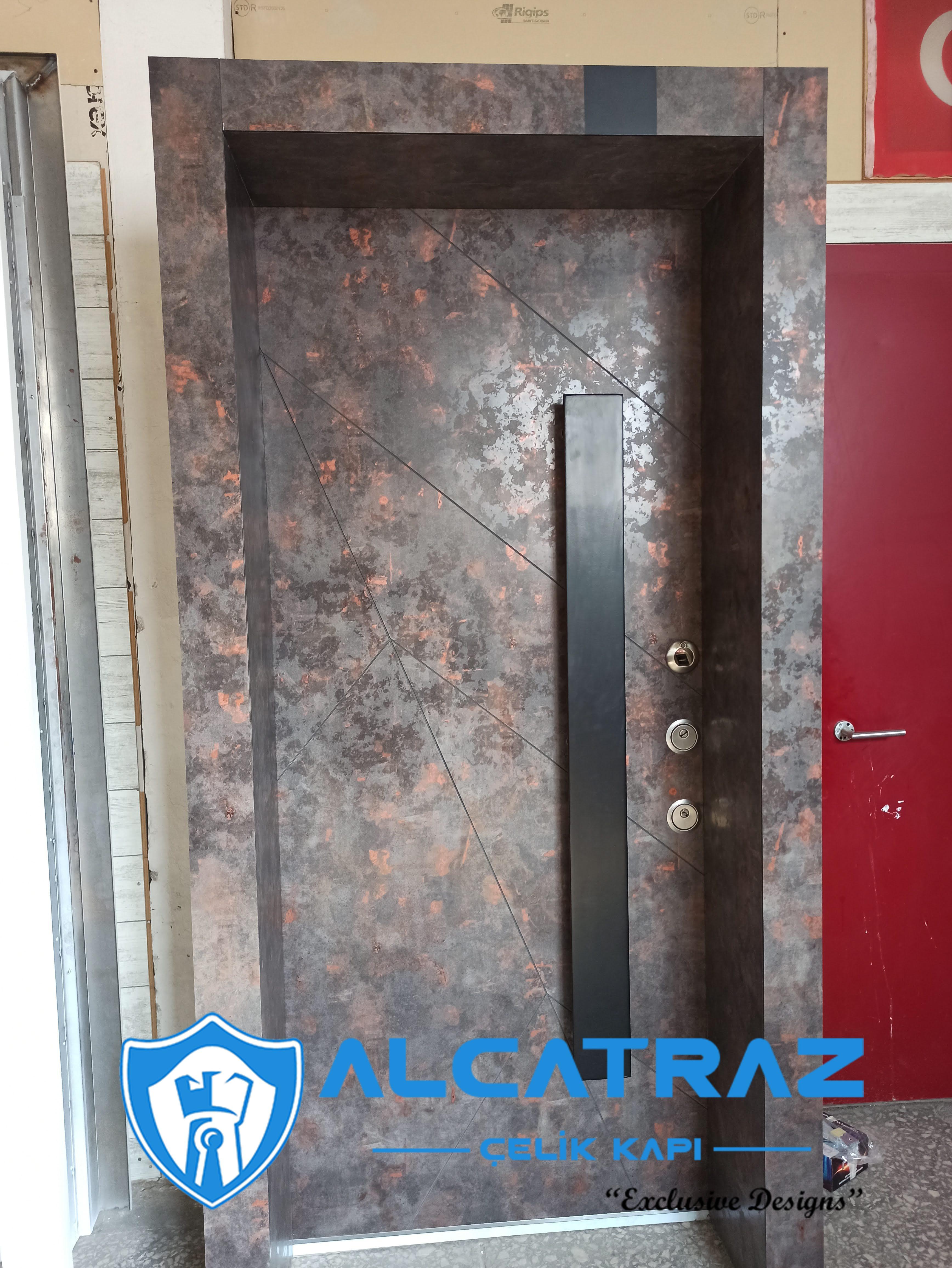 Lüks Çelik Kapı Villa Kapısı Klasik Özel Tasarım Kompozit Çelik Kapı Modelleri Alcatraz Çelik Kapı kompak granit