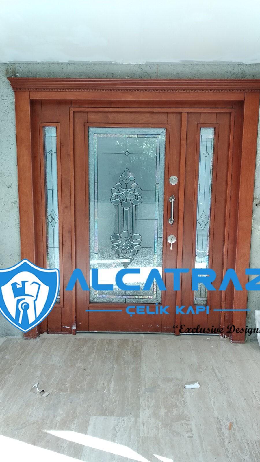 Lüks Çelik Kapı Villa Kapısı Özel Tasarım Kompozit Çelik Kapı Modelleri Alcatraz Çelik Kapı