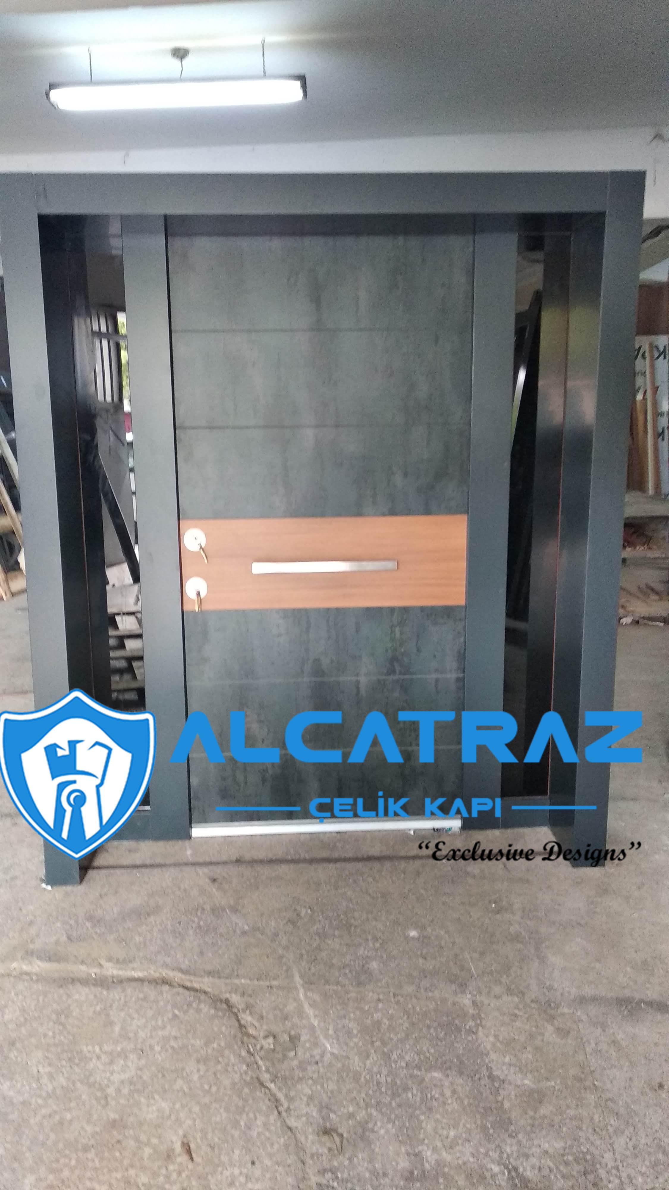 Mermer DesenliÇelik Kapı Villa Kapısı Özel Tasarım Kompozit Çelik Kapı Modelleri Alcatraz Çelik Kapı